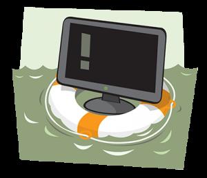 computerin lifesave ring
